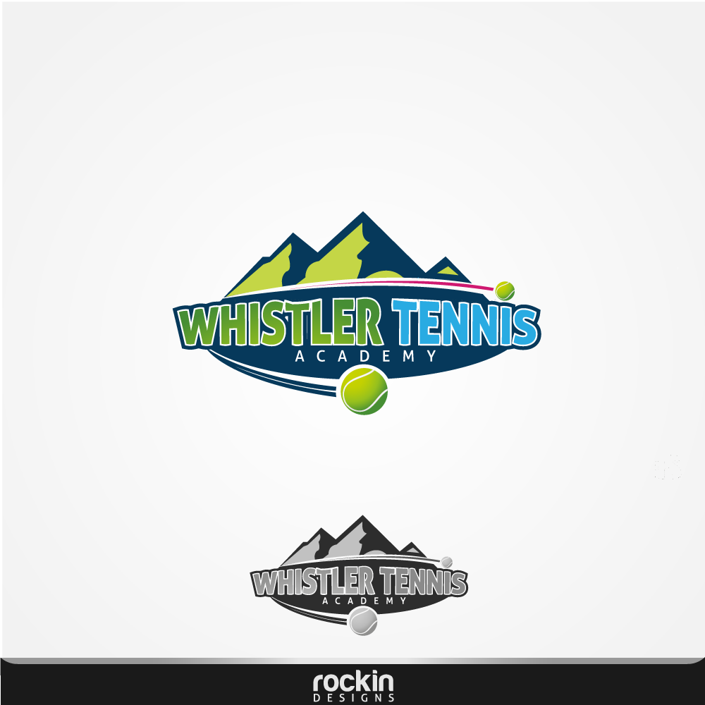 Logo Design by rockin - Entry No. 15 in the Logo Design Contest Imaginative Logo Design for Whistler Tennis Academy.