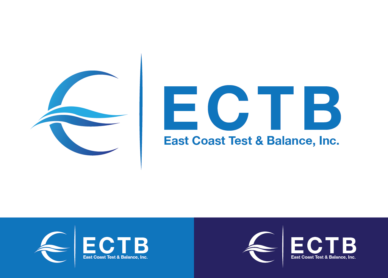 Logo Design by Dek Lestari - Entry No. 75 in the Logo Design Contest Logo Design for East Coast Test & Balance, Inc. (ECTB).