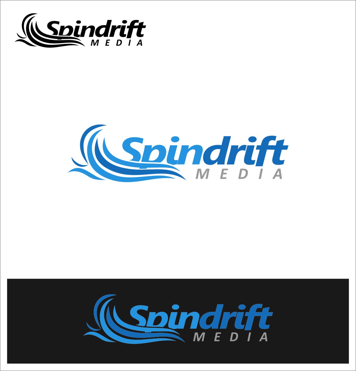 Logo Design by RasYa Muhammad Athaya - Entry No. 59 in the Logo Design Contest Inspiring Logo Design for Spindrift Media.
