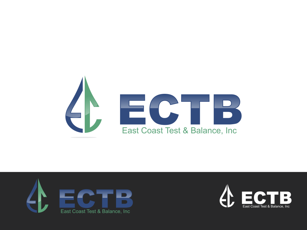 Logo Design by Rizwan Saeed - Entry No. 82 in the Logo Design Contest Logo Design for East Coast Test & Balance, Inc. (ECTB).