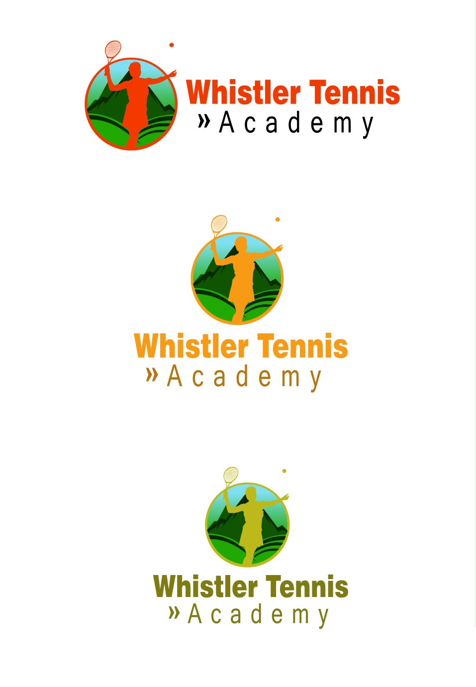 Logo Design by Private User - Entry No. 16 in the Logo Design Contest Imaginative Logo Design for Whistler Tennis Academy.