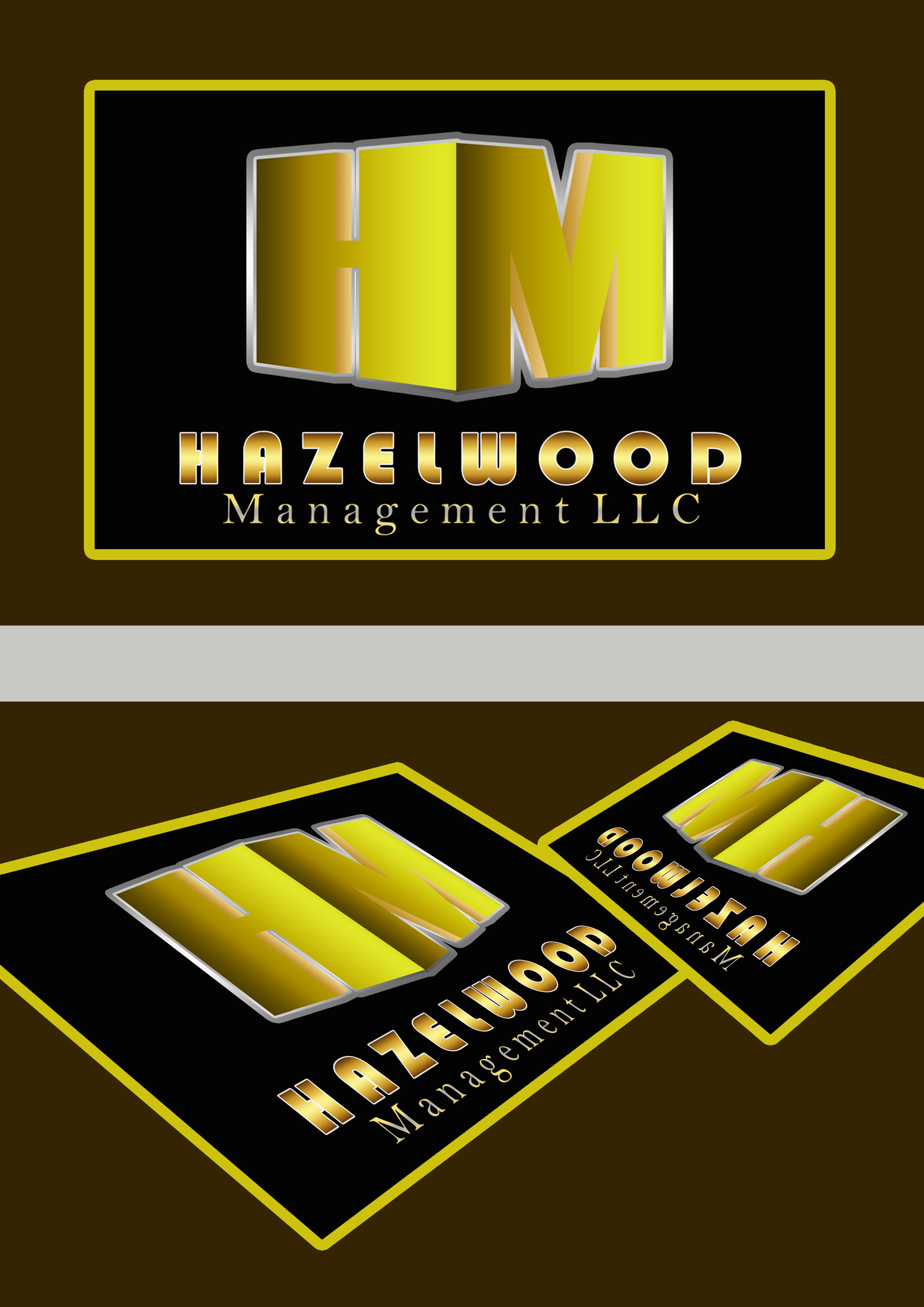 Logo Design by Jesther Jordan Minor - Entry No. 79 in the Logo Design Contest Hazelwood Management LLC Logo Design.