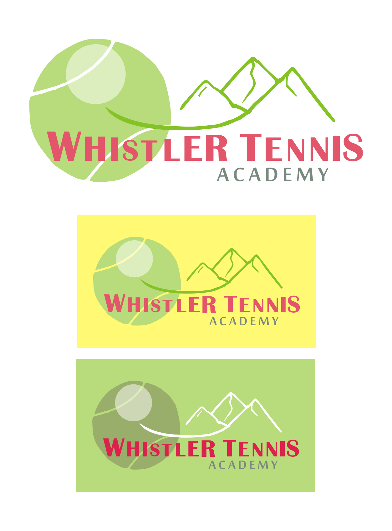 Logo Design by Nthus Nthis - Entry No. 37 in the Logo Design Contest Imaginative Logo Design for Whistler Tennis Academy.