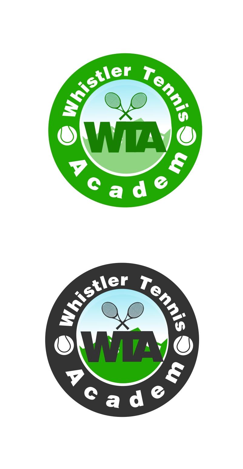Logo Design by Private User - Entry No. 39 in the Logo Design Contest Imaginative Logo Design for Whistler Tennis Academy.