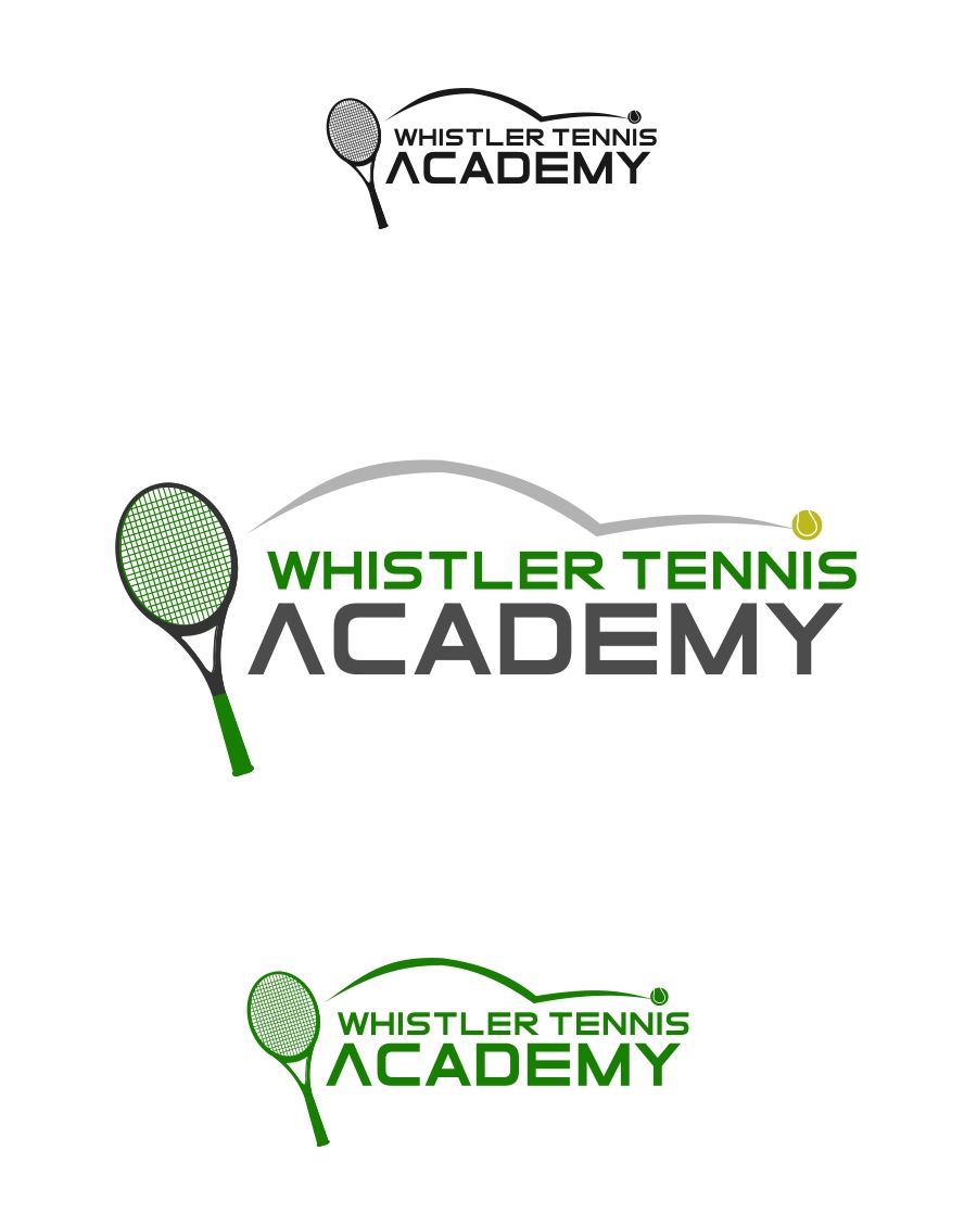 Logo Design by Private User - Entry No. 40 in the Logo Design Contest Imaginative Logo Design for Whistler Tennis Academy.