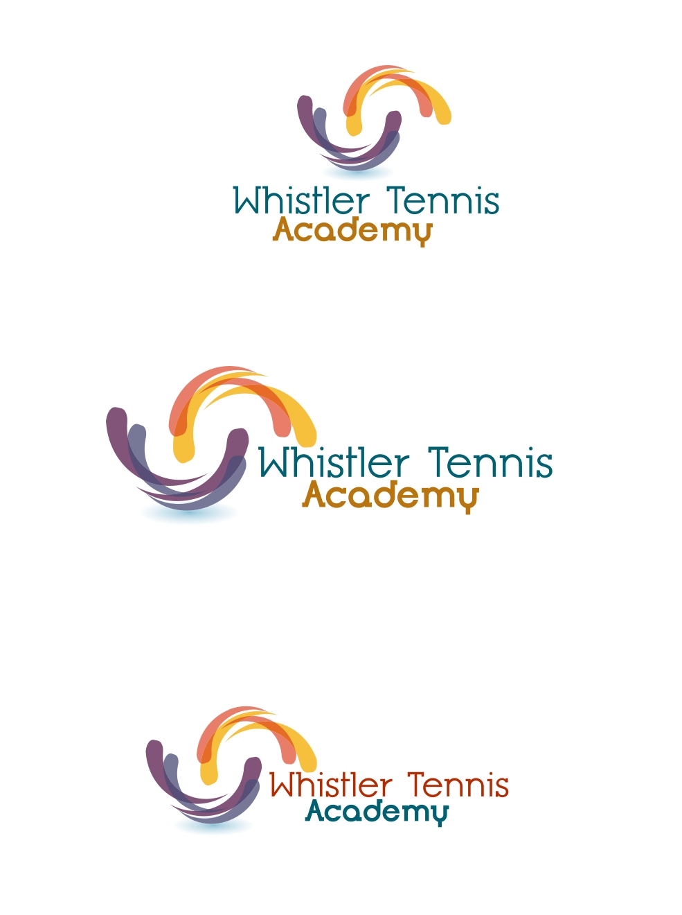 Logo Design by Private User - Entry No. 43 in the Logo Design Contest Imaginative Logo Design for Whistler Tennis Academy.
