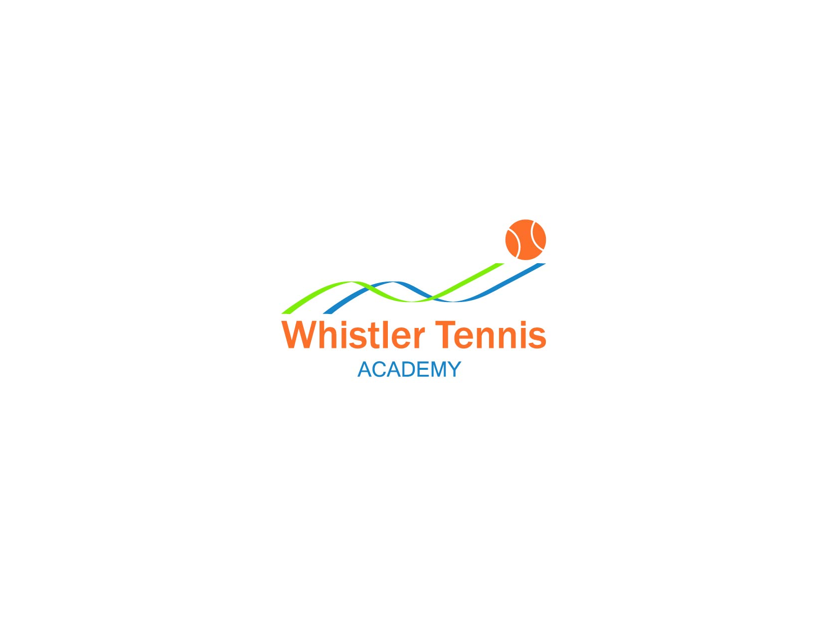 Logo Design by Osi Indra - Entry No. 51 in the Logo Design Contest Imaginative Logo Design for Whistler Tennis Academy.