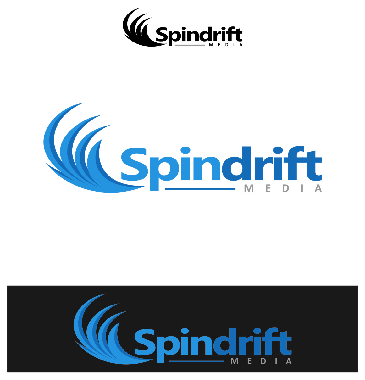 Logo Design by RasYa Muhammad Athaya - Entry No. 83 in the Logo Design Contest Inspiring Logo Design for Spindrift Media.