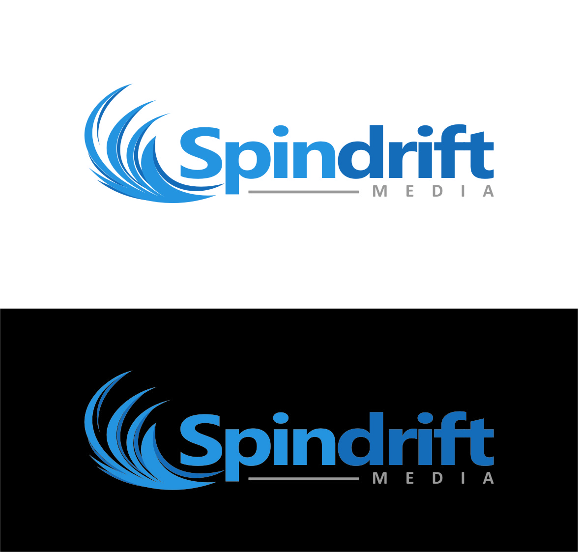 Logo Design by RasYa Muhammad Athaya - Entry No. 84 in the Logo Design Contest Inspiring Logo Design for Spindrift Media.
