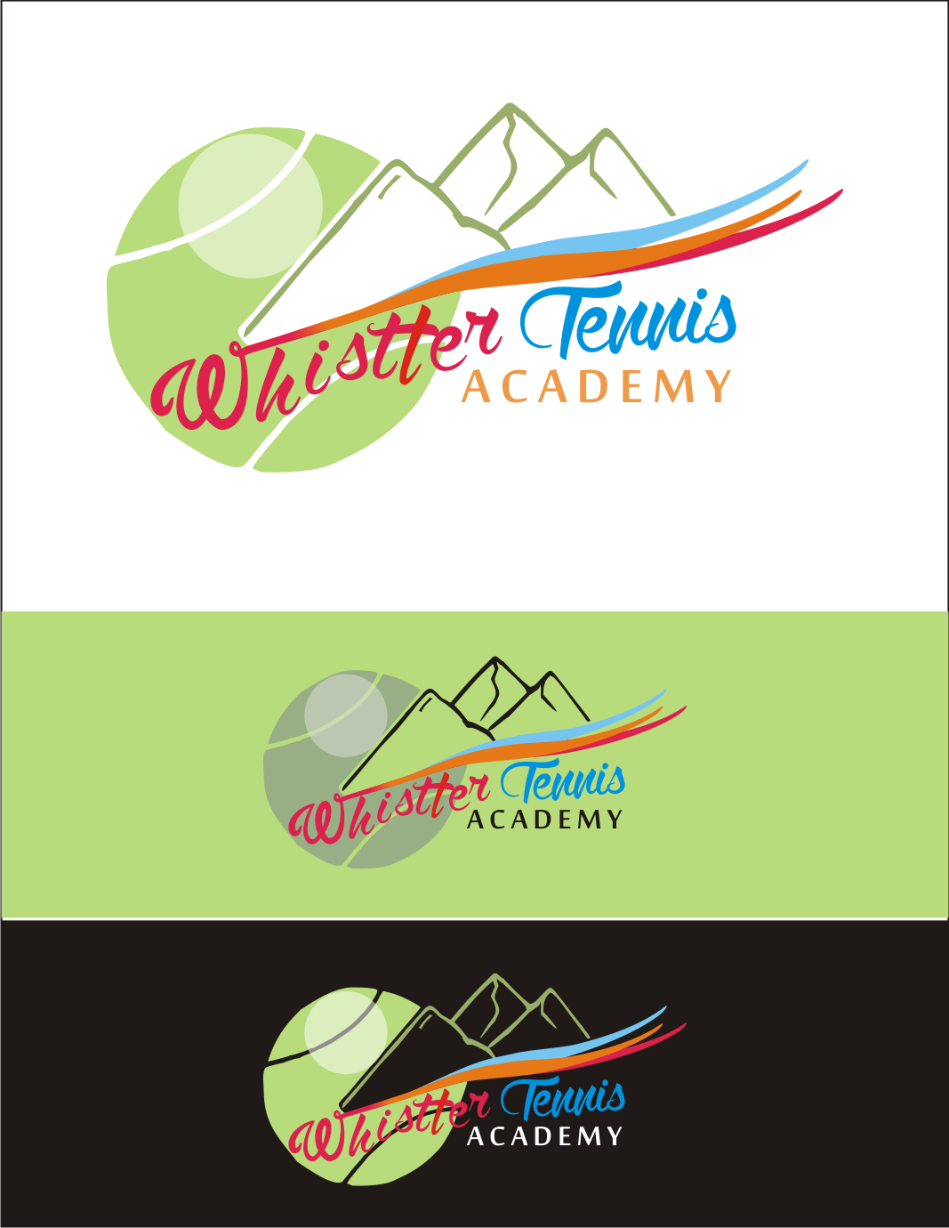 Logo Design by Nthus Nthis - Entry No. 59 in the Logo Design Contest Imaginative Logo Design for Whistler Tennis Academy.