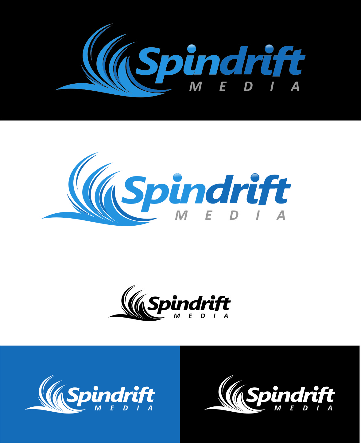 Logo Design by RoSyid Rono-Rene On Java - Entry No. 106 in the Logo Design Contest Inspiring Logo Design for Spindrift Media.