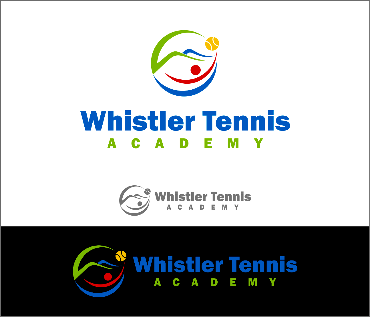 Logo Design by Armada Jamaluddin - Entry No. 62 in the Logo Design Contest Imaginative Logo Design for Whistler Tennis Academy.