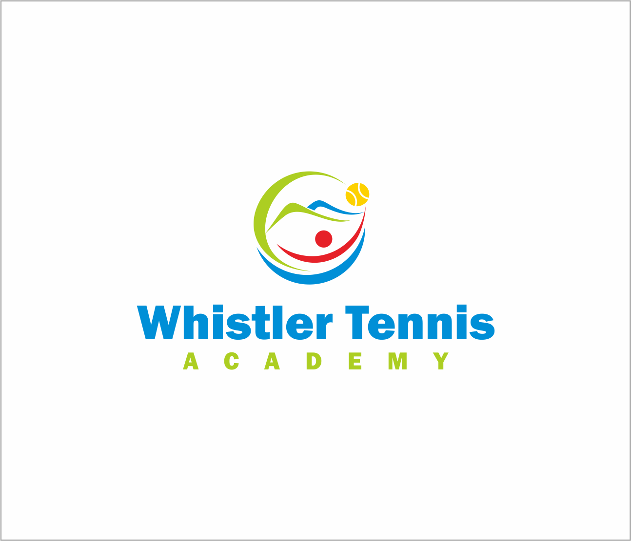 Logo Design by Armada Jamaluddin - Entry No. 63 in the Logo Design Contest Imaginative Logo Design for Whistler Tennis Academy.