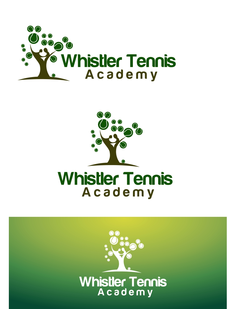 Logo Design by Private User - Entry No. 64 in the Logo Design Contest Imaginative Logo Design for Whistler Tennis Academy.