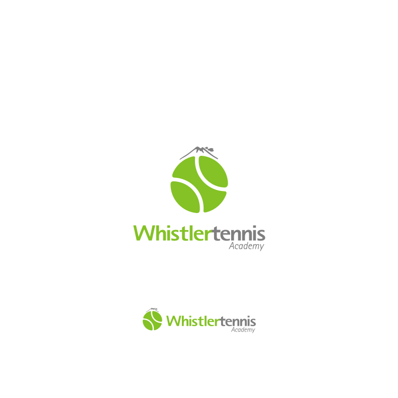 Logo Design by graphicleaf - Entry No. 92 in the Logo Design Contest Imaginative Logo Design for Whistler Tennis Academy.