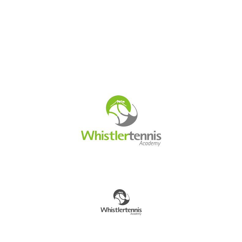 Logo Design by graphicleaf - Entry No. 95 in the Logo Design Contest Imaginative Logo Design for Whistler Tennis Academy.