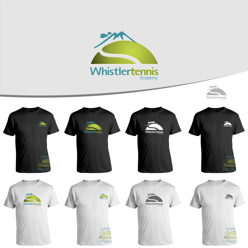 Logo Design by graphicleaf - Entry No. 97 in the Logo Design Contest Imaginative Logo Design for Whistler Tennis Academy.