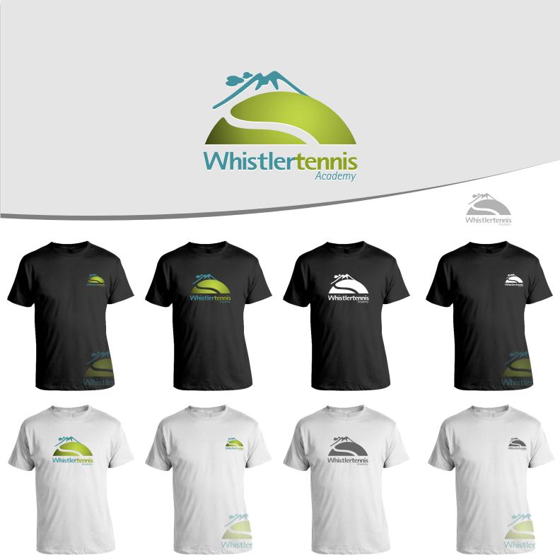 Logo Design by graphicleaf - Entry No. 97 in the Logo Design Contest Imaginative Logo Design for Whistler Tennis Academy.