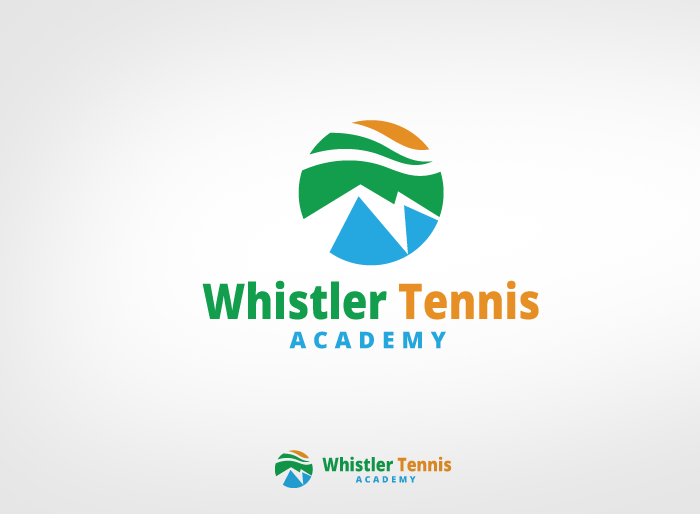 Logo Design by Jan Chua - Entry No. 109 in the Logo Design Contest Imaginative Logo Design for Whistler Tennis Academy.