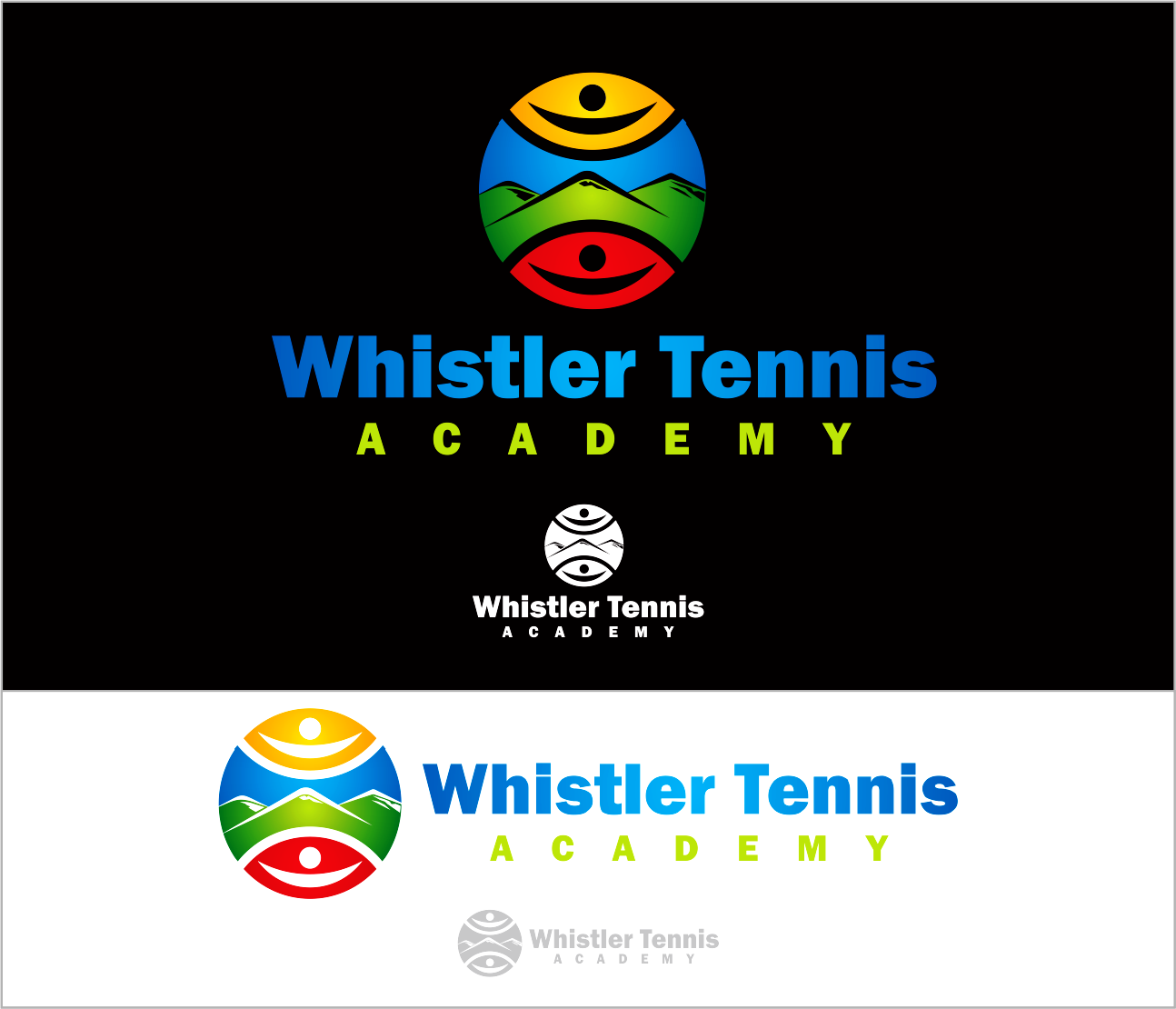 Logo Design by Armada Jamaluddin - Entry No. 111 in the Logo Design Contest Imaginative Logo Design for Whistler Tennis Academy.