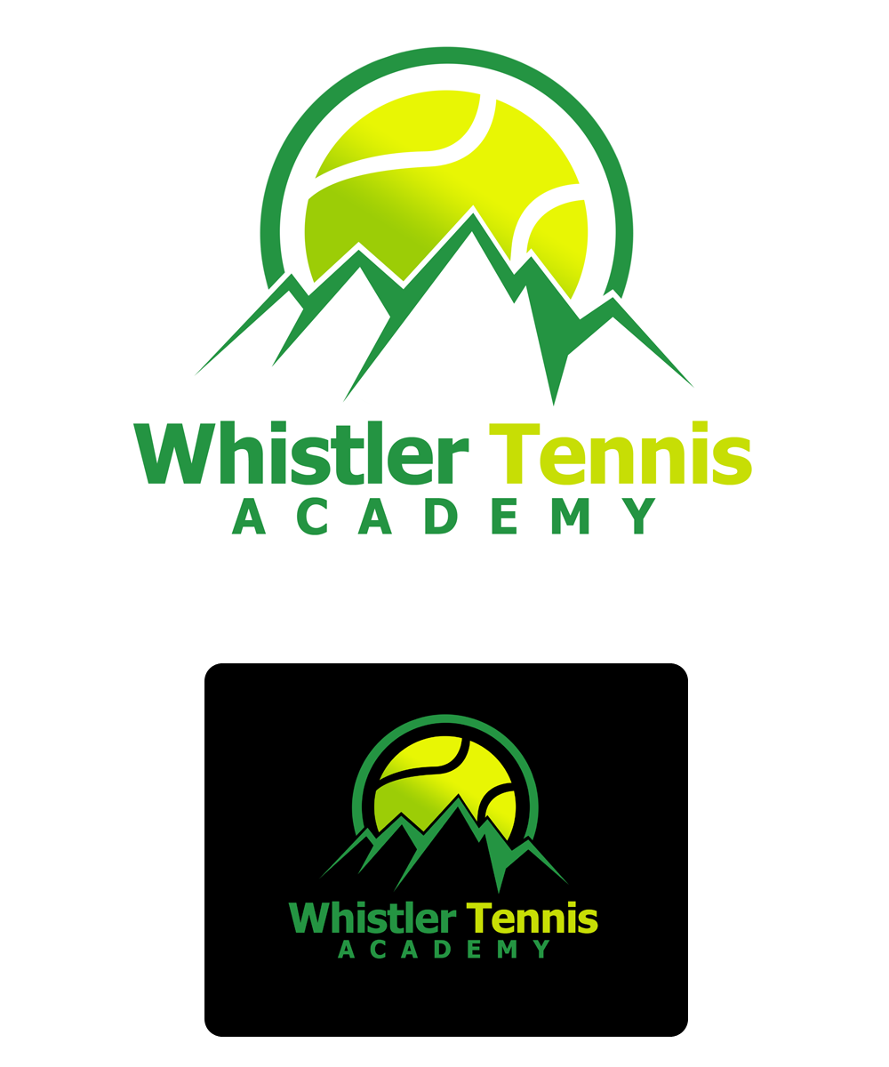 Logo Design by Private User - Entry No. 138 in the Logo Design Contest Imaginative Logo Design for Whistler Tennis Academy.