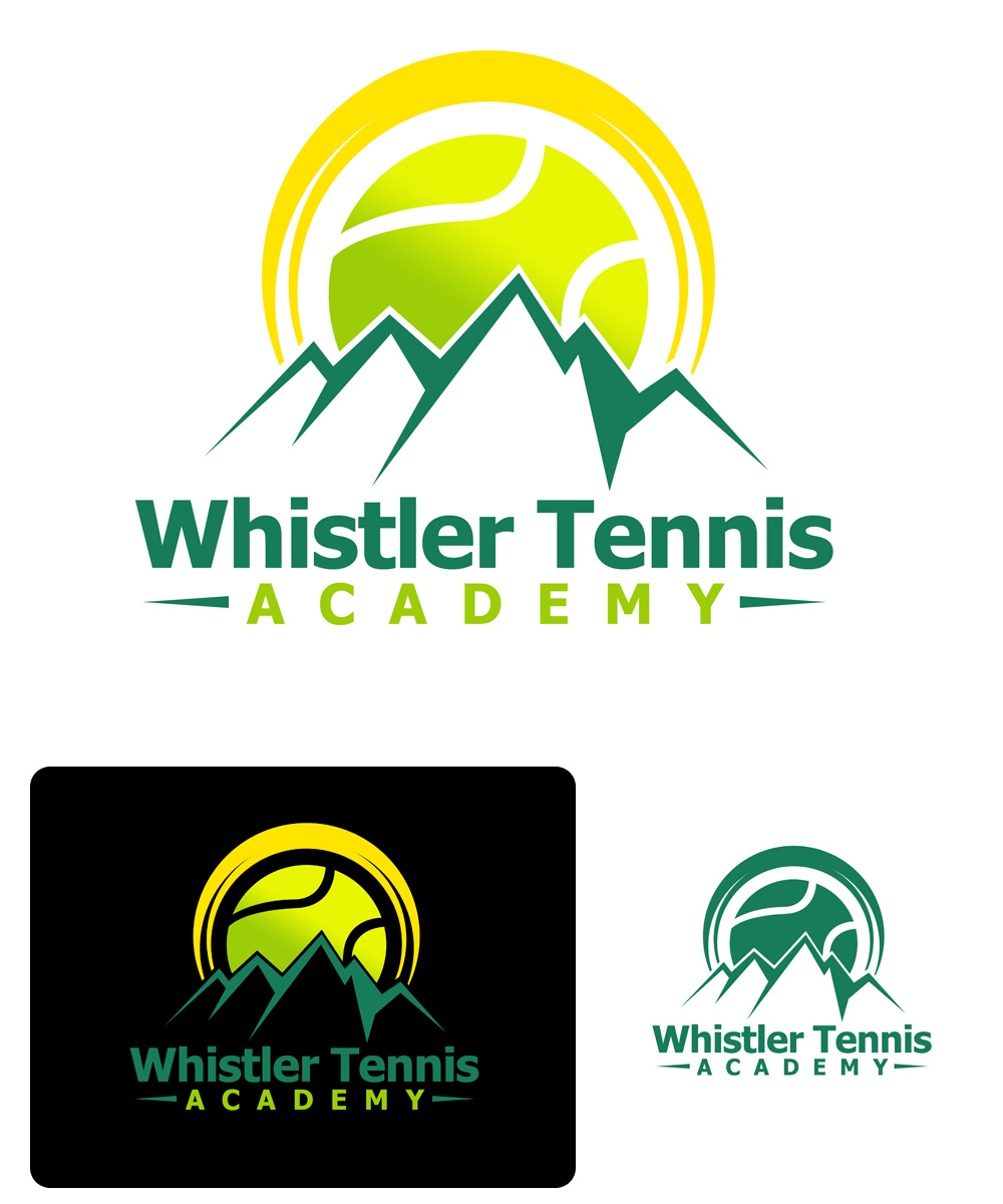 Logo Design by Private User - Entry No. 150 in the Logo Design Contest Imaginative Logo Design for Whistler Tennis Academy.