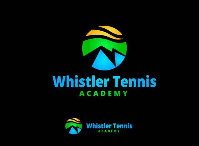 Logo Design by Jan Chua - Entry No. 153 in the Logo Design Contest Imaginative Logo Design for Whistler Tennis Academy.
