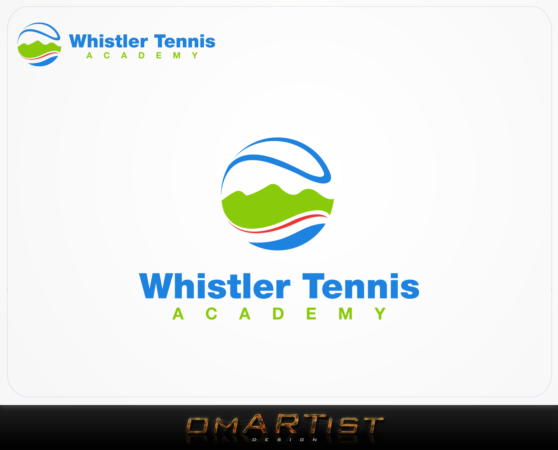 Logo Design by omARTist - Entry No. 165 in the Logo Design Contest Imaginative Logo Design for Whistler Tennis Academy.