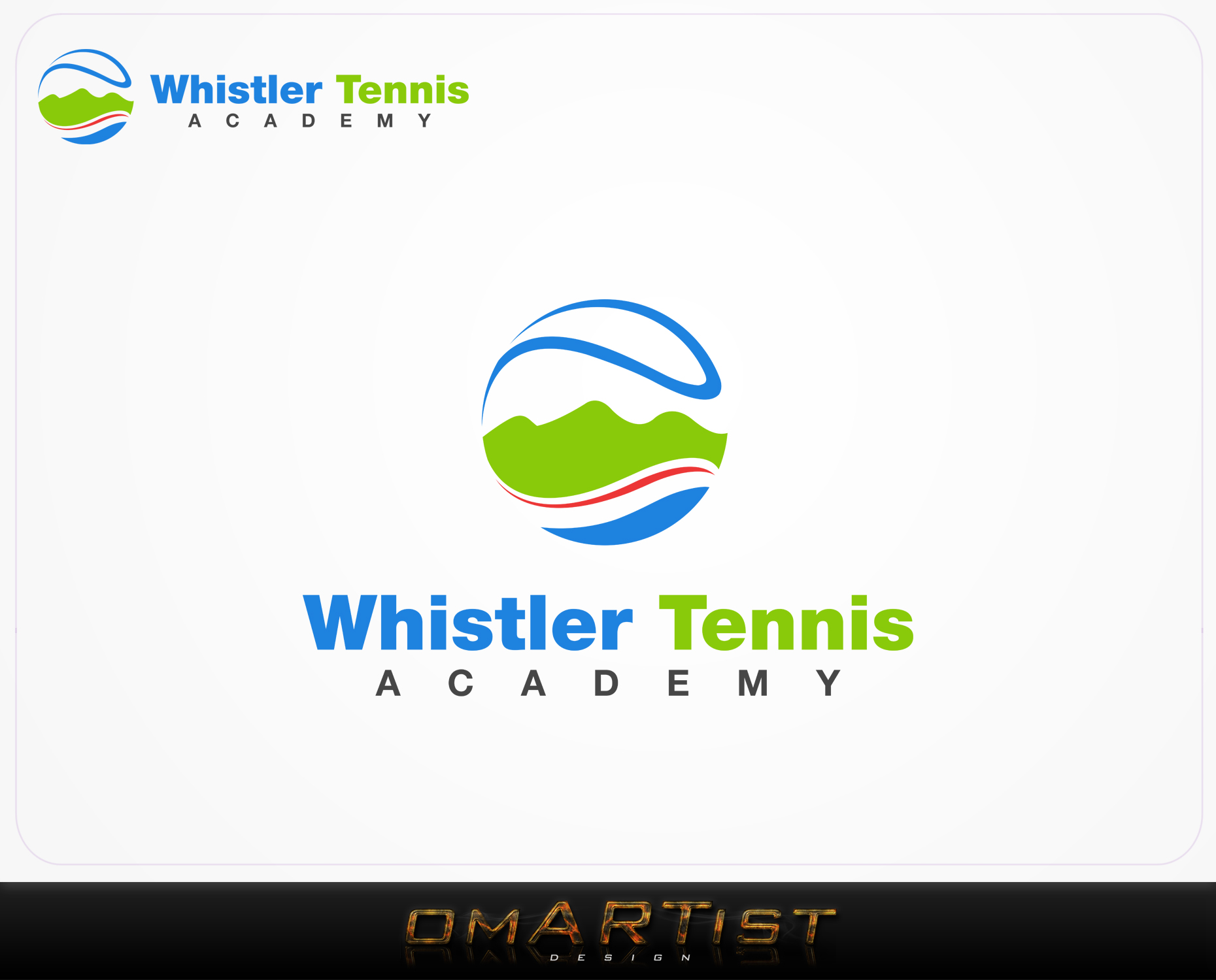 Logo Design by omARTist - Entry No. 167 in the Logo Design Contest Imaginative Logo Design for Whistler Tennis Academy.