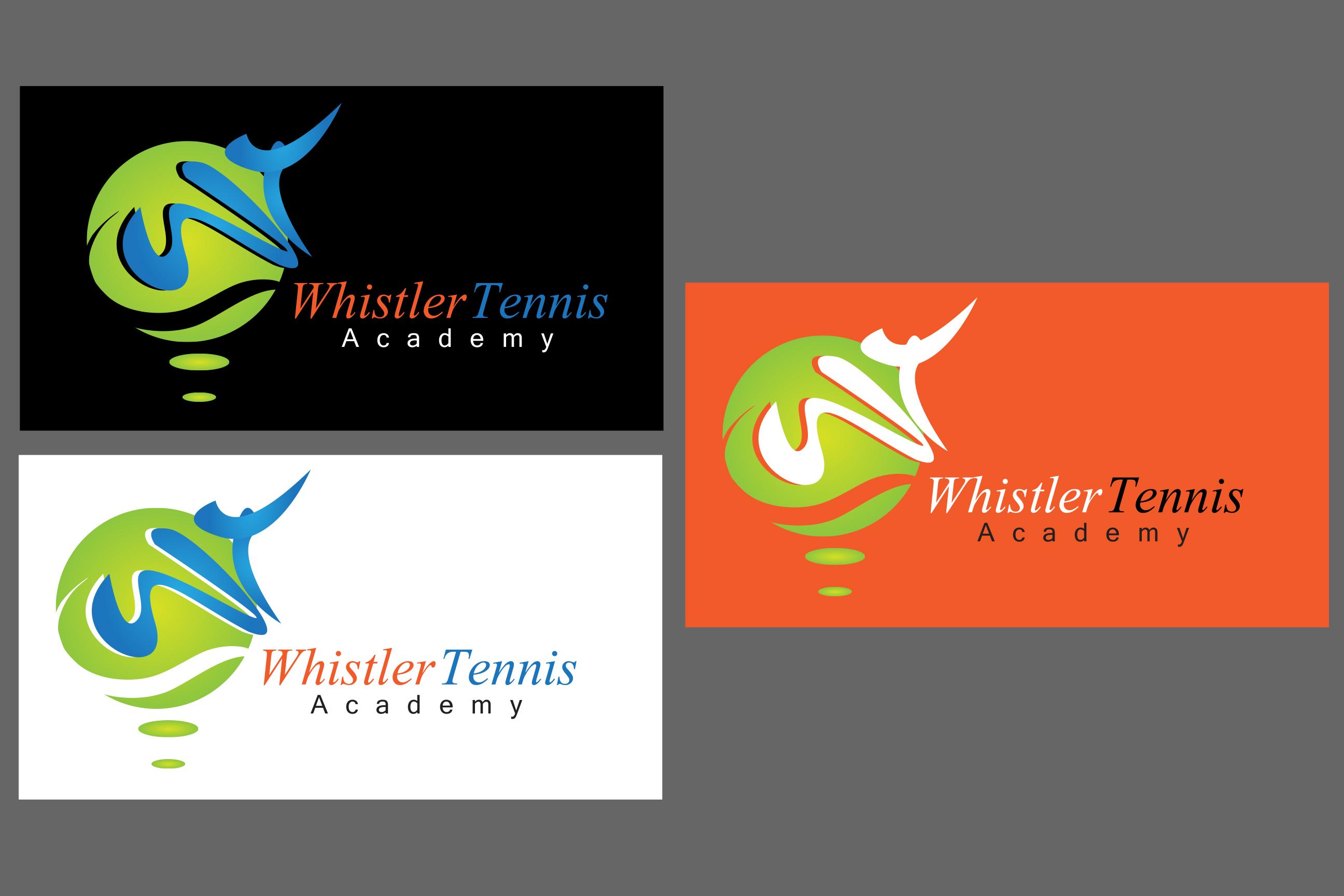 Logo Design by Leonard Anthony Alloso - Entry No. 174 in the Logo Design Contest Imaginative Logo Design for Whistler Tennis Academy.