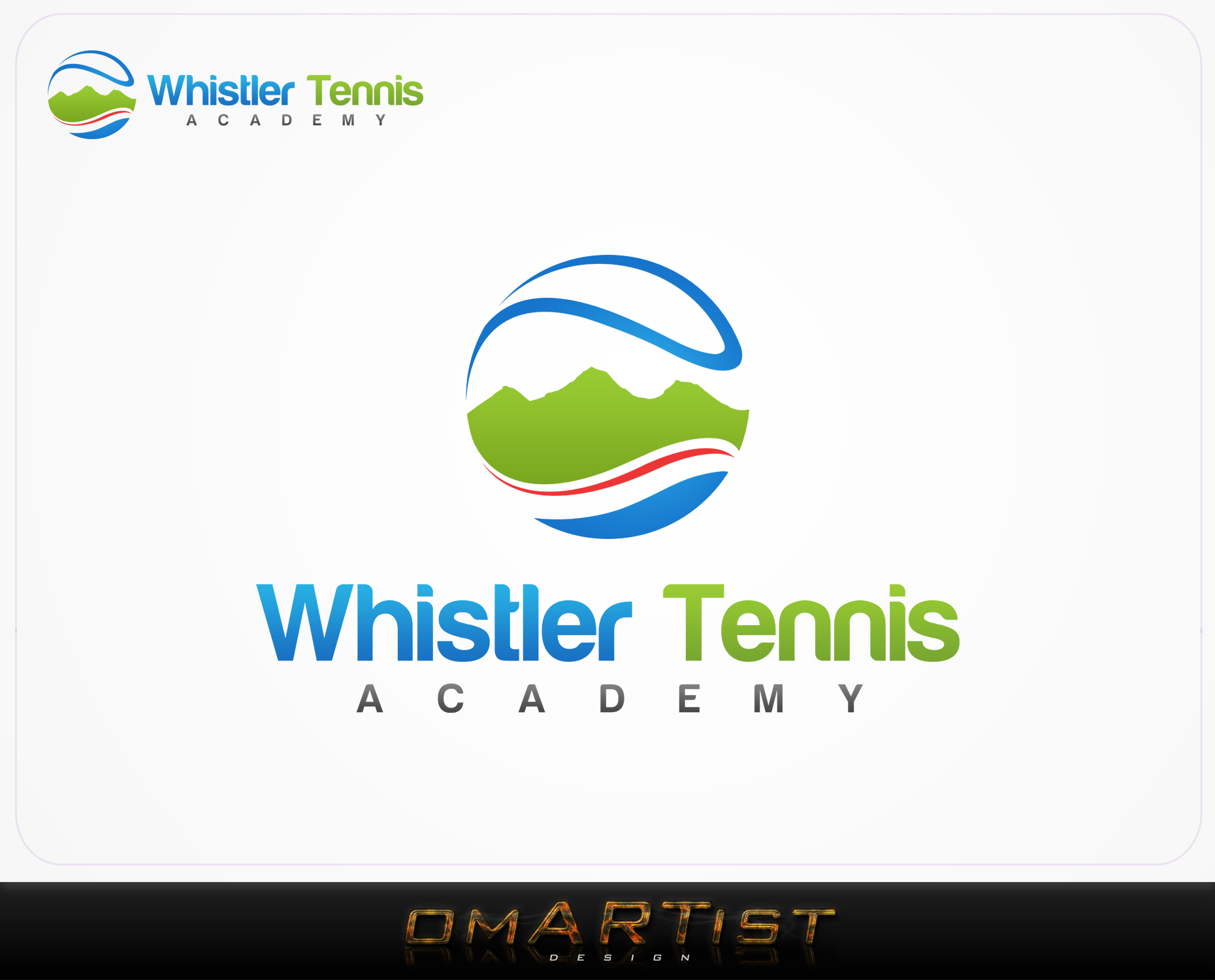 Logo Design by omARTist - Entry No. 175 in the Logo Design Contest Imaginative Logo Design for Whistler Tennis Academy.
