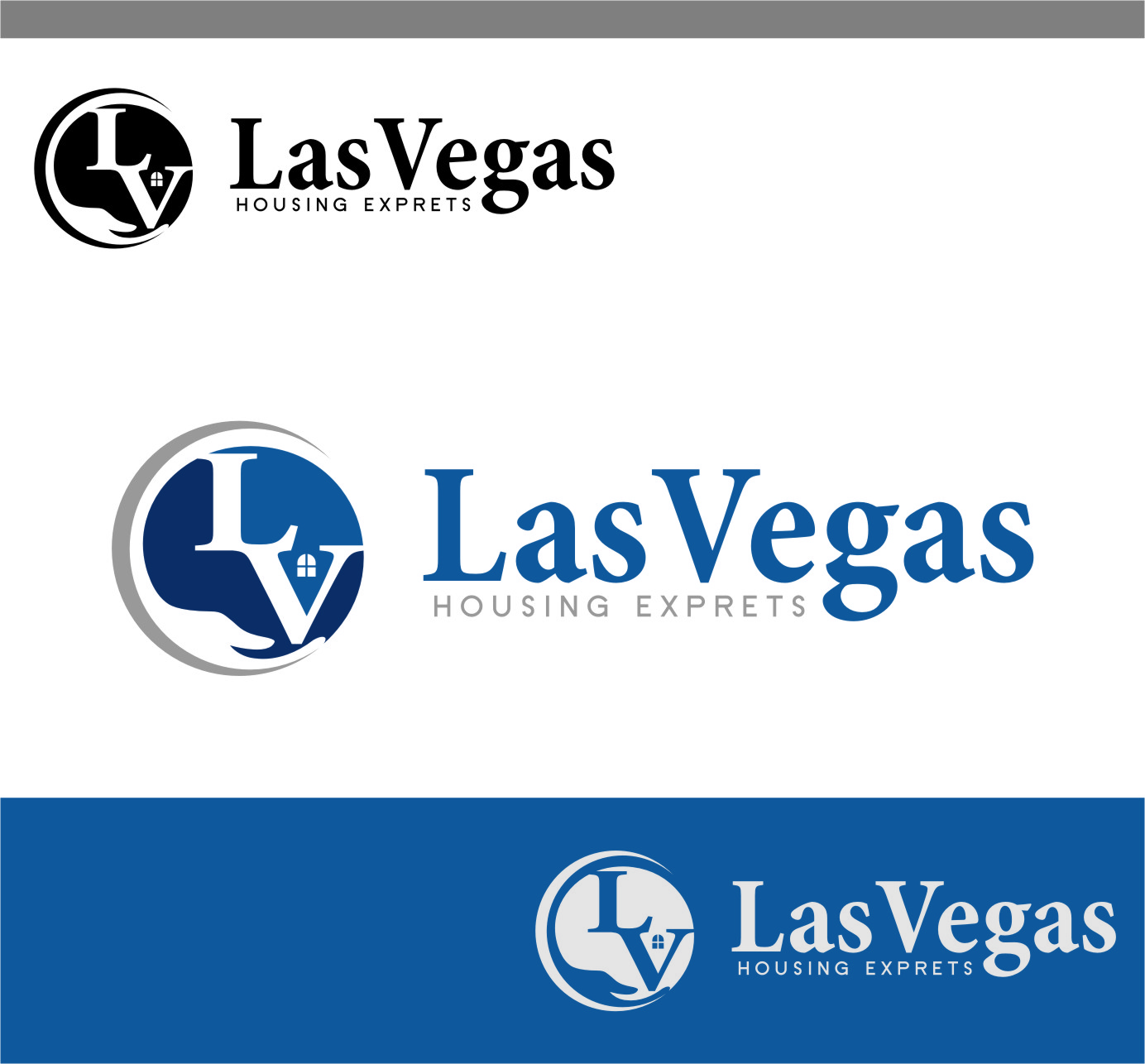 Logo Design by Ngepet_art - Entry No. 46 in the Logo Design Contest Las Vegas Housing Experts Logo Design.