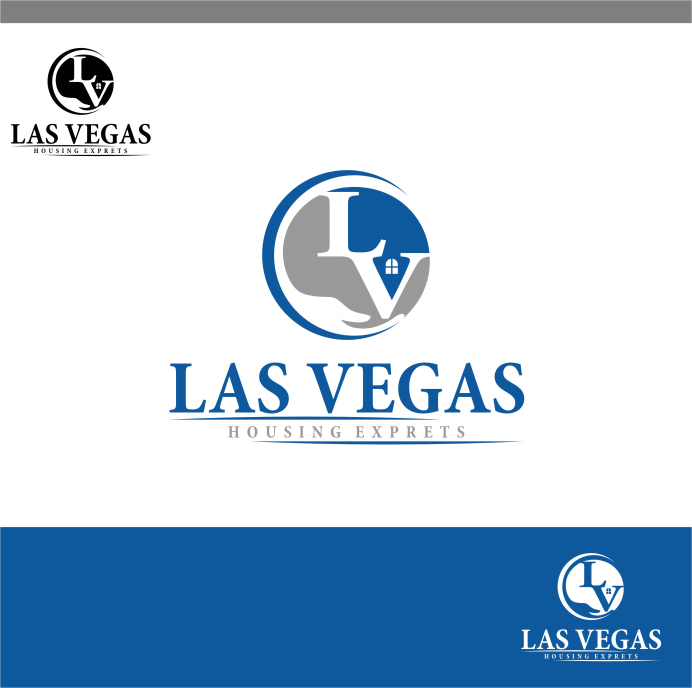 Logo Design by Ngepet_art - Entry No. 47 in the Logo Design Contest Las Vegas Housing Experts Logo Design.