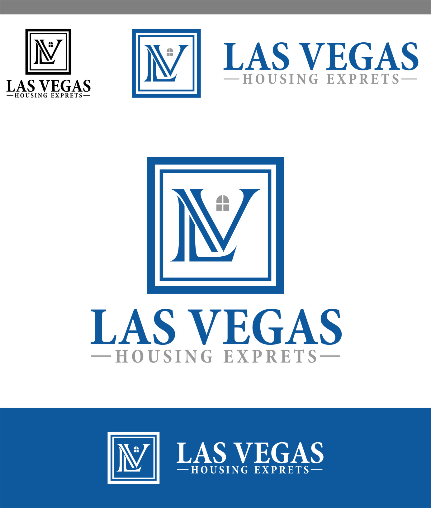 Logo Design by Ngepet_art - Entry No. 49 in the Logo Design Contest Las Vegas Housing Experts Logo Design.