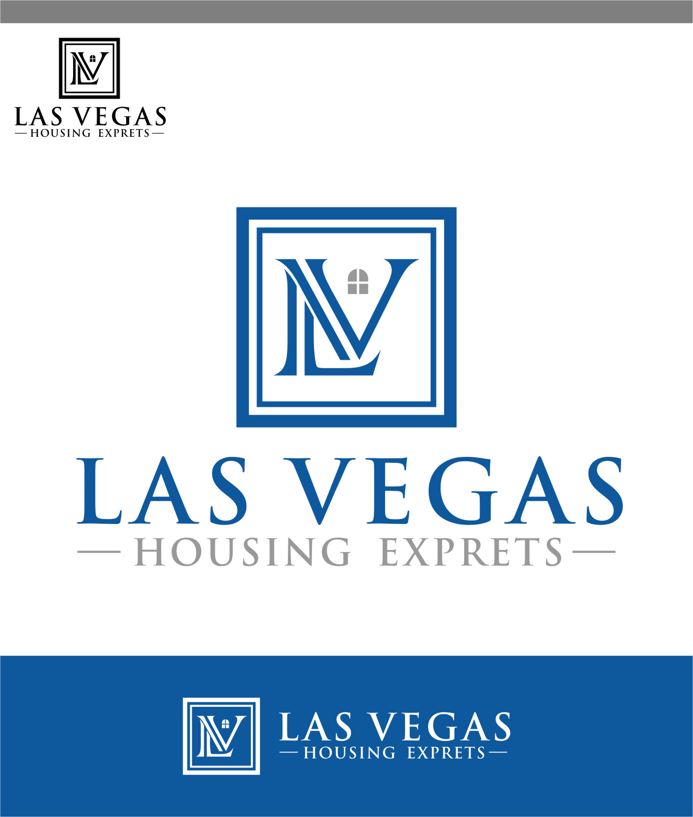 Logo Design by Ngepet_art - Entry No. 50 in the Logo Design Contest Las Vegas Housing Experts Logo Design.