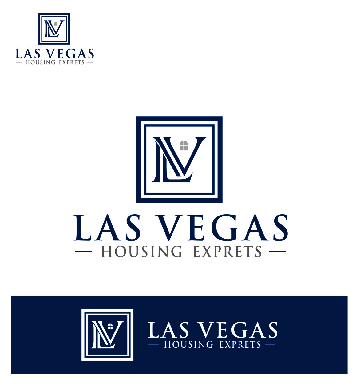 Logo Design by Ngepet_art - Entry No. 51 in the Logo Design Contest Las Vegas Housing Experts Logo Design.