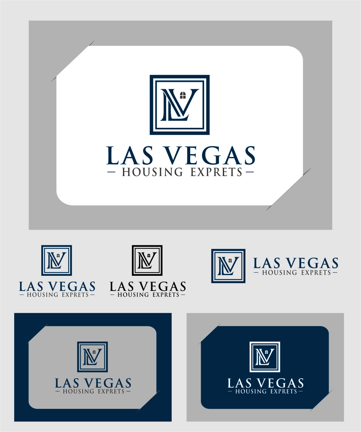 Logo Design by RasYa Muhammad Athaya - Entry No. 52 in the Logo Design Contest Las Vegas Housing Experts Logo Design.
