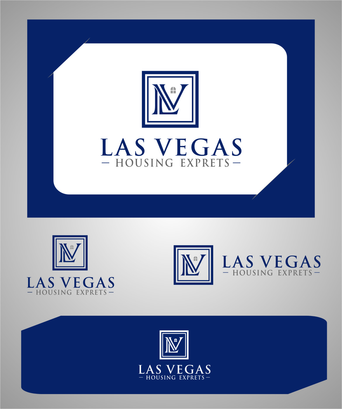 Logo Design by Ngepet_art - Entry No. 53 in the Logo Design Contest Las Vegas Housing Experts Logo Design.