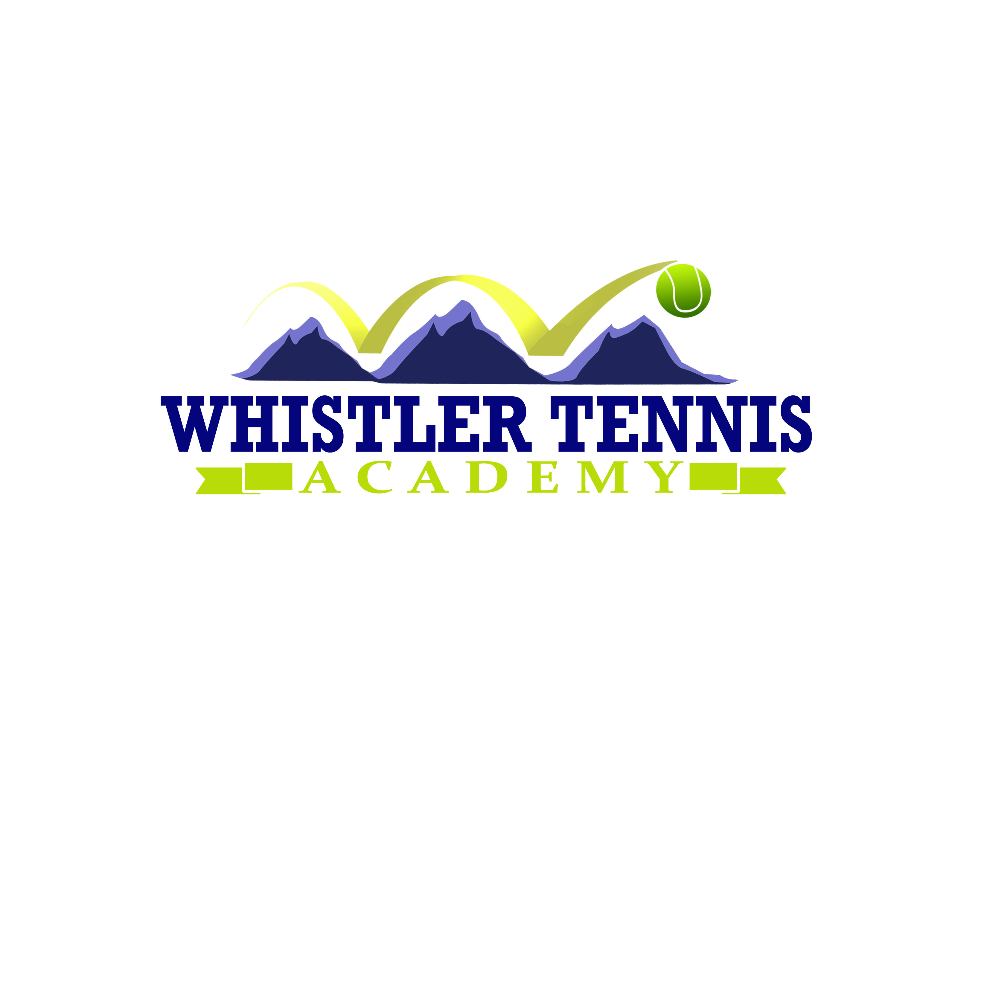 Logo Design by Allan Esclamado - Entry No. 180 in the Logo Design Contest Imaginative Logo Design for Whistler Tennis Academy.