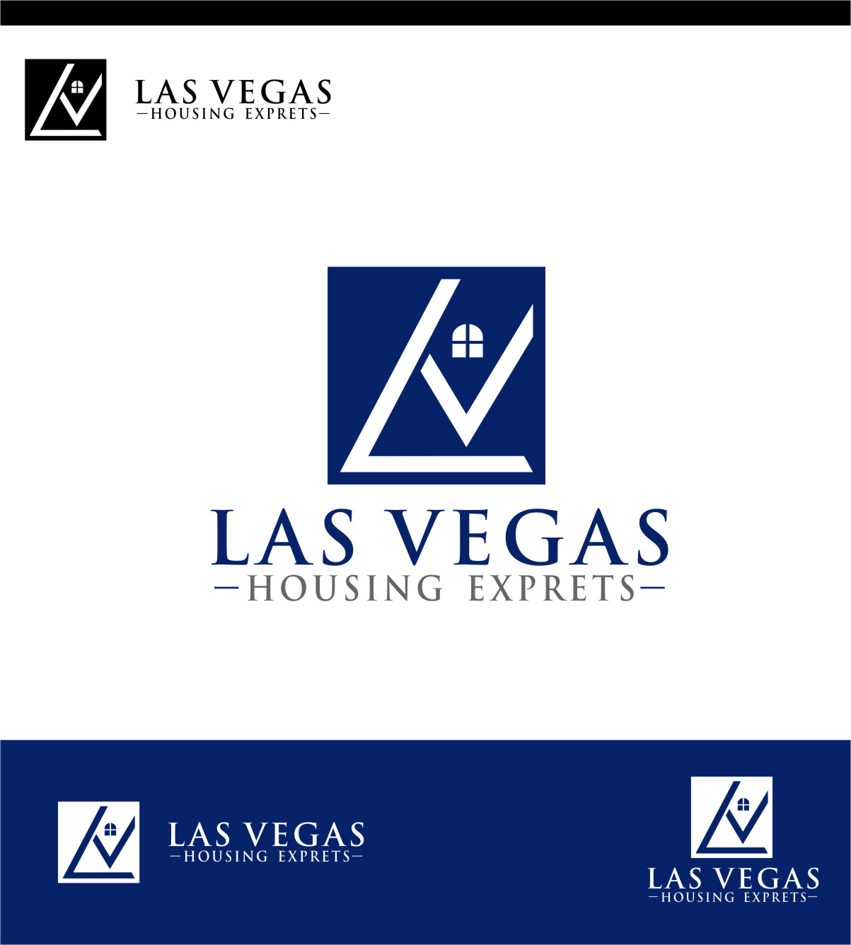 Logo Design by Ngepet_art - Entry No. 62 in the Logo Design Contest Las Vegas Housing Experts Logo Design.