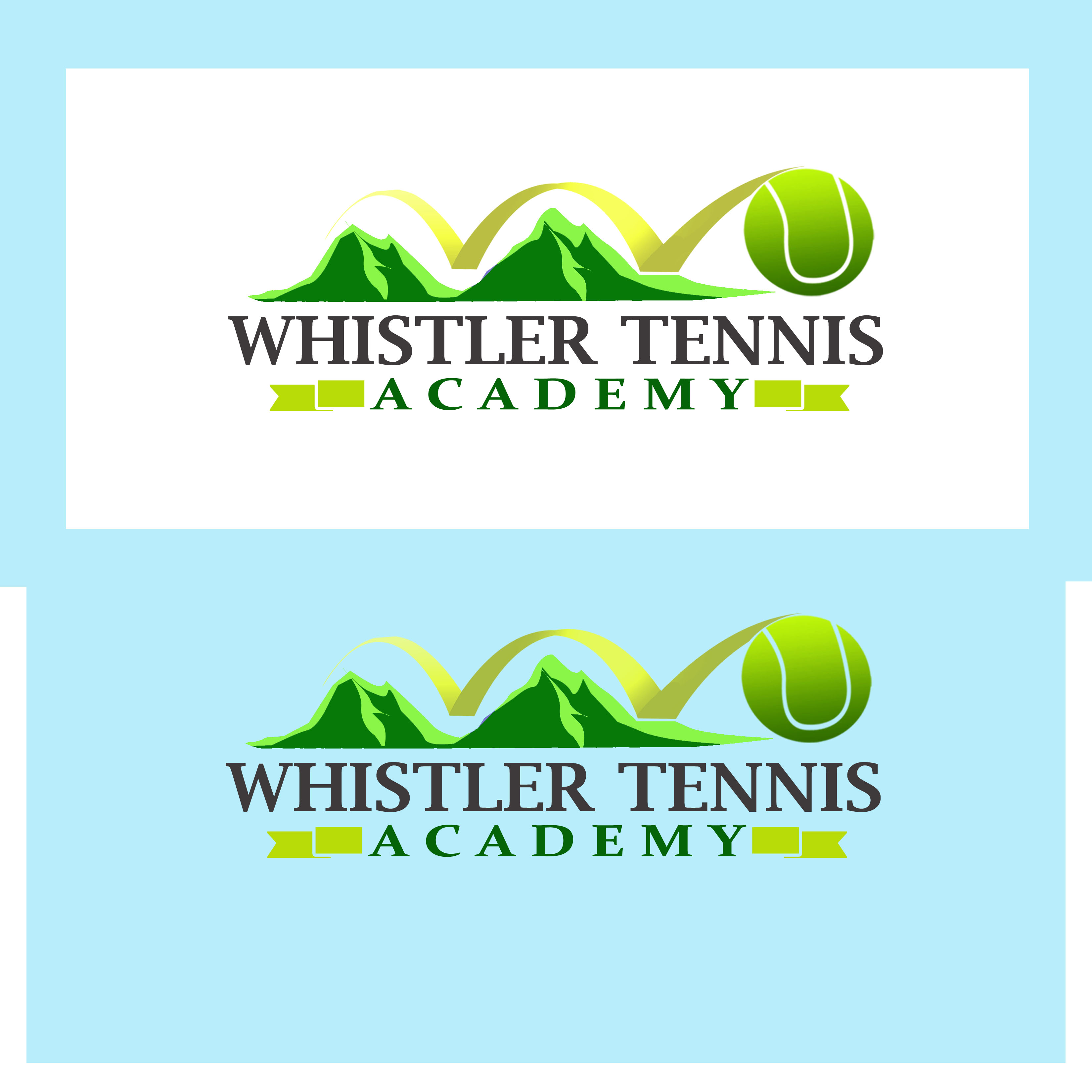 Logo Design by Allan Esclamado - Entry No. 183 in the Logo Design Contest Imaginative Logo Design for Whistler Tennis Academy.