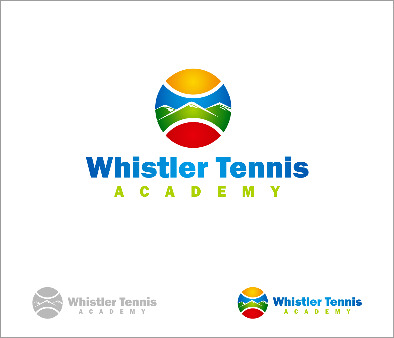 Logo Design by Armada Jamaluddin - Entry No. 187 in the Logo Design Contest Imaginative Logo Design for Whistler Tennis Academy.