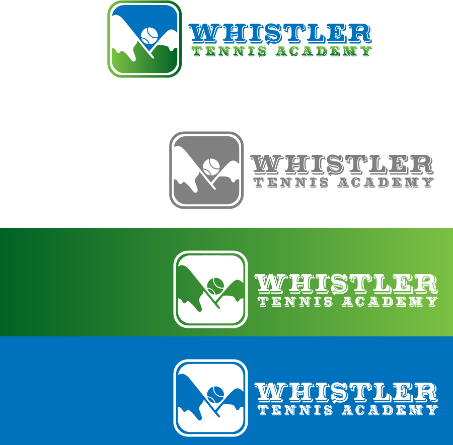 Logo Design by Private User - Entry No. 194 in the Logo Design Contest Imaginative Logo Design for Whistler Tennis Academy.