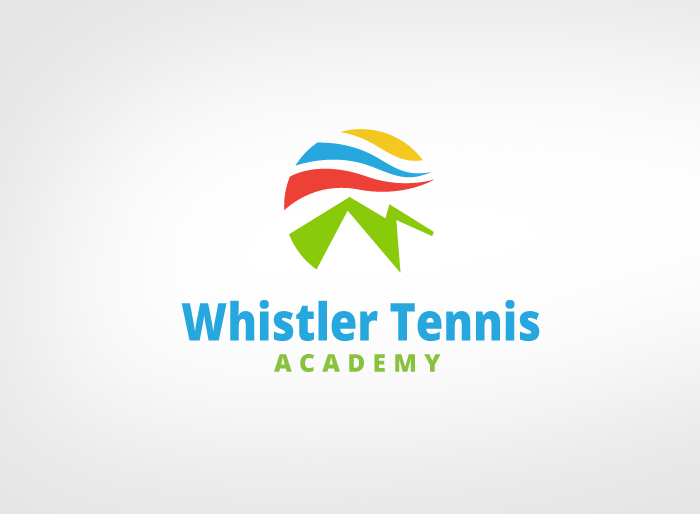 Logo Design by Jan Chua - Entry No. 201 in the Logo Design Contest Imaginative Logo Design for Whistler Tennis Academy.