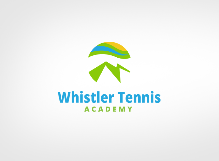 Logo Design by Jan Chua - Entry No. 203 in the Logo Design Contest Imaginative Logo Design for Whistler Tennis Academy.