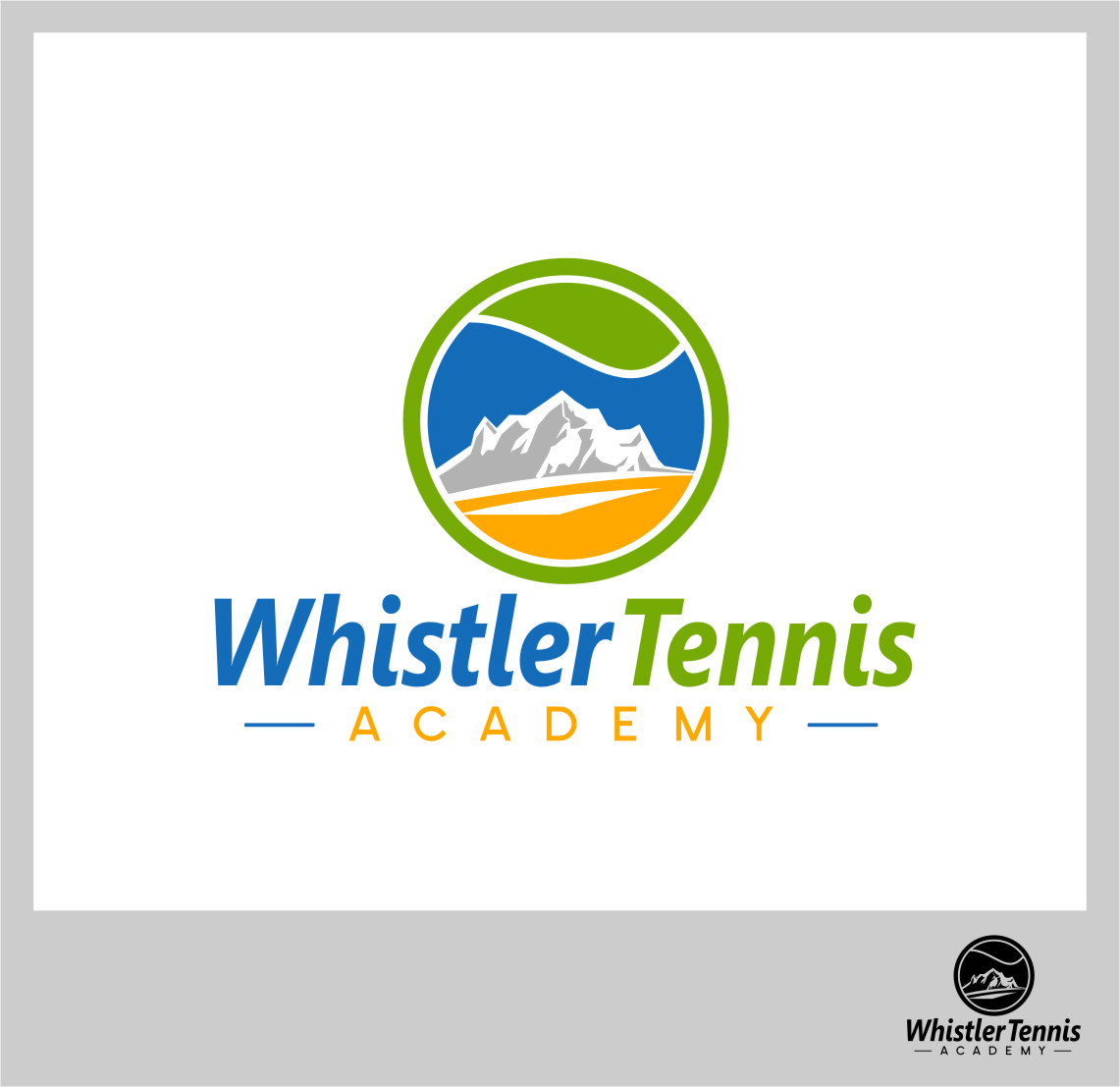 Logo Design by Ngepet_art - Entry No. 204 in the Logo Design Contest Imaginative Logo Design for Whistler Tennis Academy.