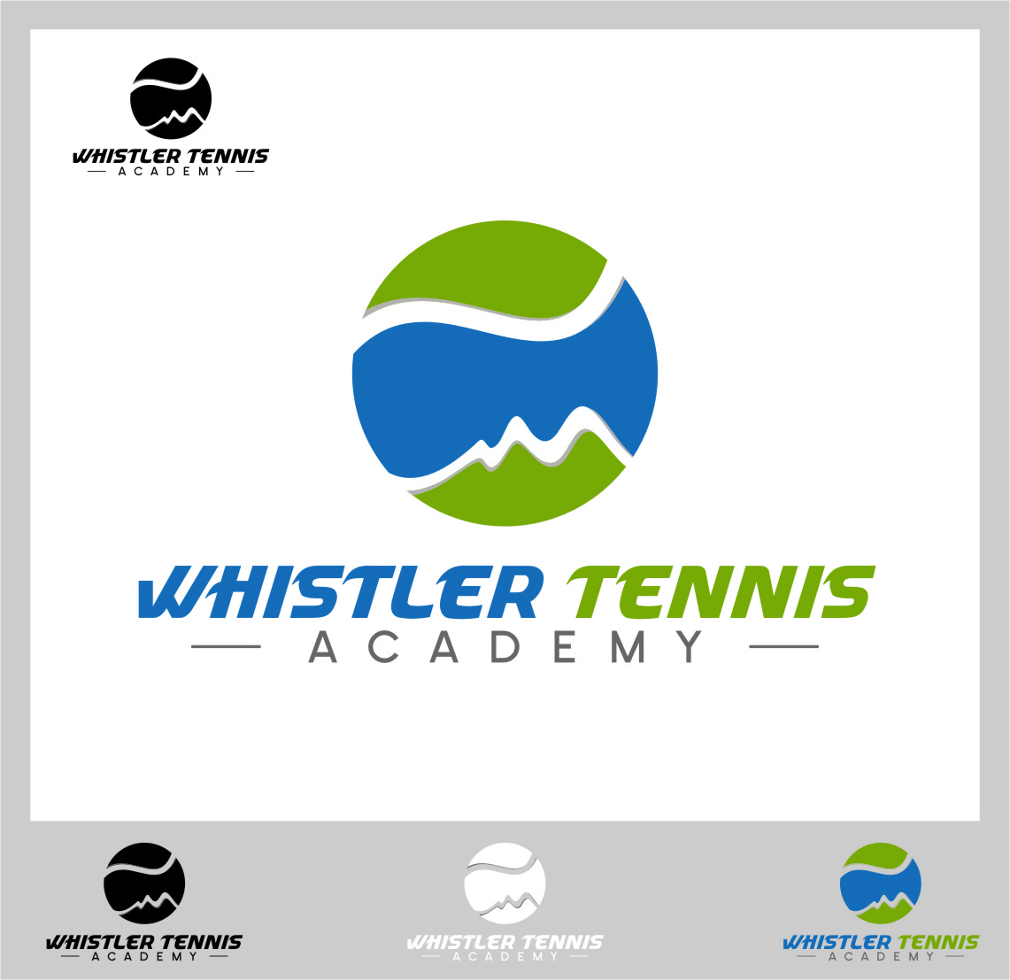 Logo Design by RoSyid Rono-Rene On Java - Entry No. 206 in the Logo Design Contest Imaginative Logo Design for Whistler Tennis Academy.