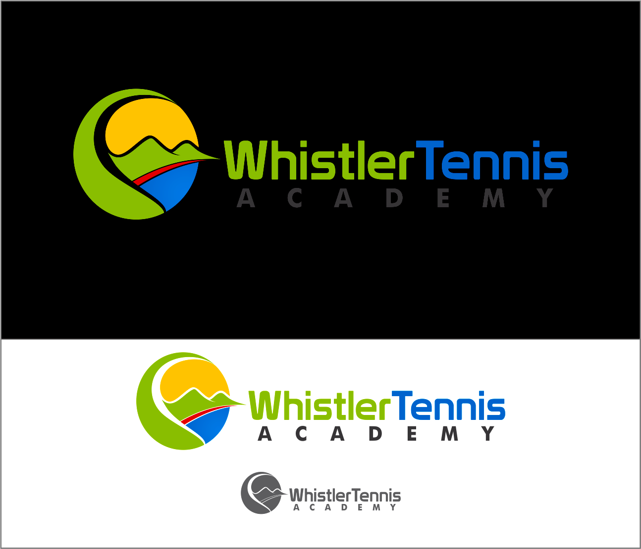 Logo Design by Armada Jamaluddin - Entry No. 208 in the Logo Design Contest Imaginative Logo Design for Whistler Tennis Academy.