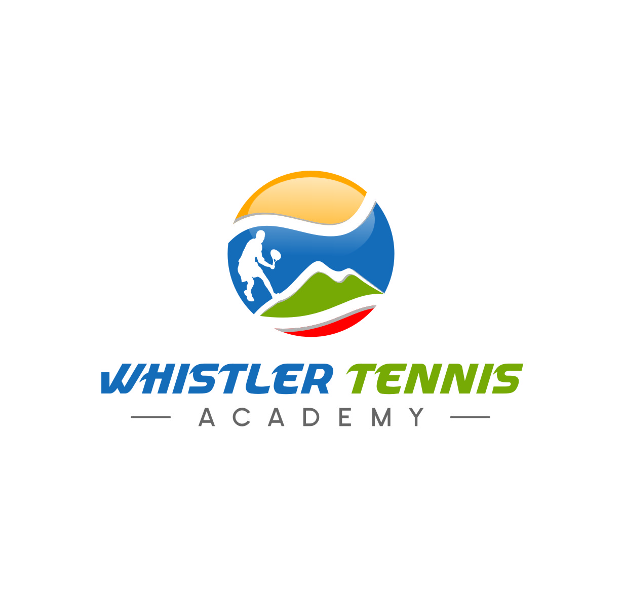 Logo Design by RasYa Muhammad Athaya - Entry No. 211 in the Logo Design Contest Imaginative Logo Design for Whistler Tennis Academy.