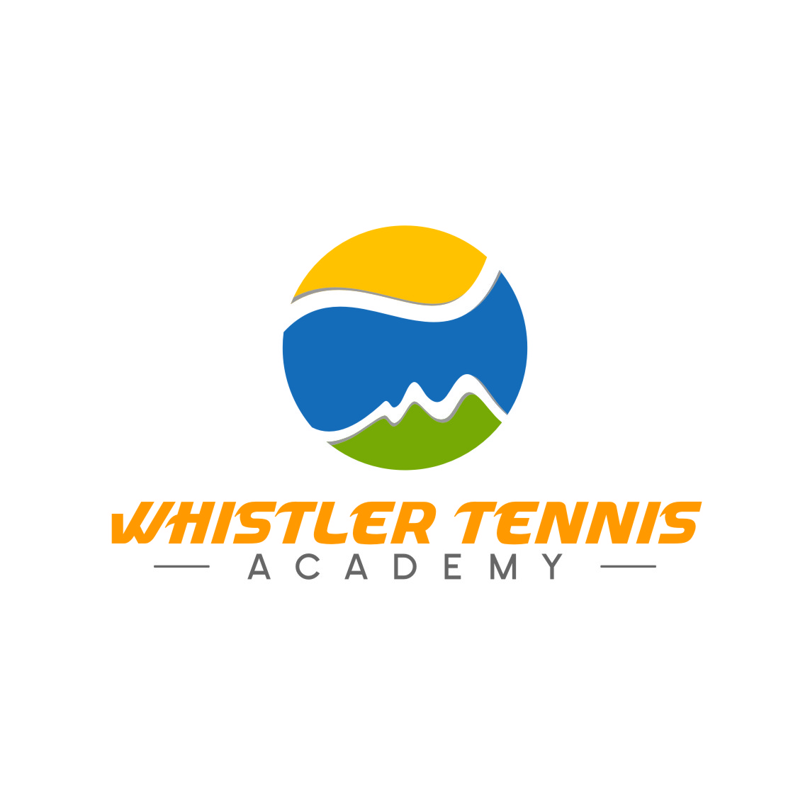 Logo Design by RasYa Muhammad Athaya - Entry No. 212 in the Logo Design Contest Imaginative Logo Design for Whistler Tennis Academy.